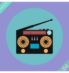 Retro Stereo Radio Cassette Recorder vector
