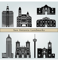 San antonio landmarks and monuments vector