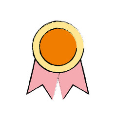 school medal symbol to intelligent student vector image