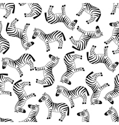 seamless zebra pattern vector image