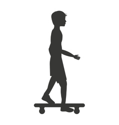 skateboard sport isolated icon design vector image