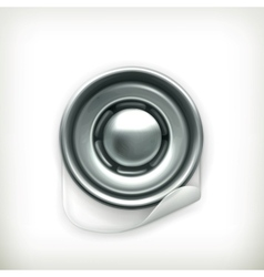 Snap fastener icon vector image