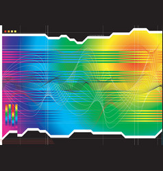Space outlook rainbow vector