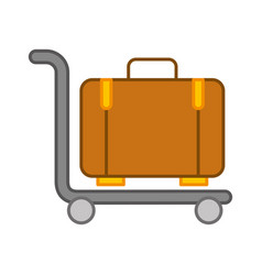 Suitcase carrier isolated icon vector