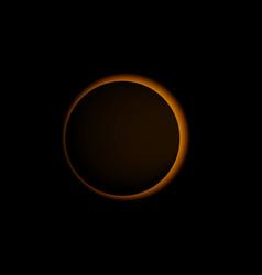 Sun eclipse solar realistic vector