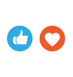 Thumbs up and heart icon vector