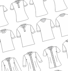 White T-Shirts and Dress Shirts Pack vector