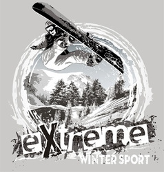 Winter sport snowboard vector