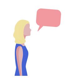 Woman chatting flat trendy design vector