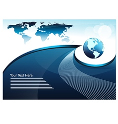 World Map Global Business Concept vector image