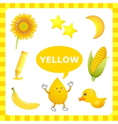 Yellow color vector