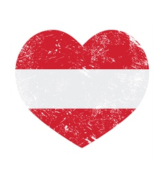 Austria heart retro flag vector image