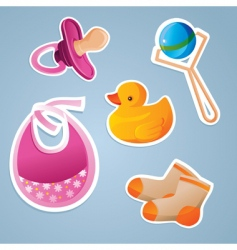 baby's icon set vector image vector image