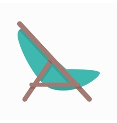 Beach Chaise in Flat Design vector image