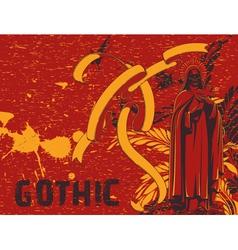 dark gothic background vector image