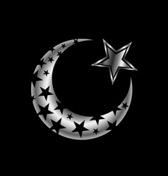 the islamic star vector image vector image