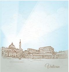 vatican city background vector image vector image