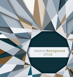 3D Diamond Abstract Background vector image