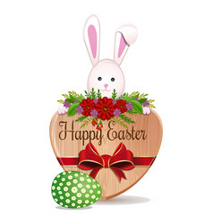 easter bunny and easter egg - symbols of easter vector image