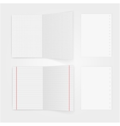 Set of notepaper sheets with shadow isolated on vector image