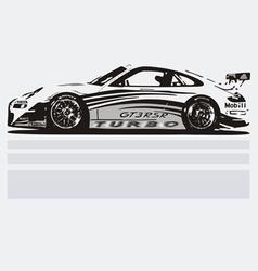 Turbo car vector