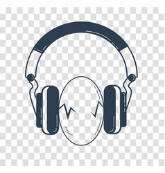eggs between headphones black vector image vector image