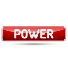 power - abstract beautiful button with text vector image vector image