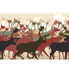 Reindeer herd vector