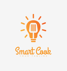 smart cook logo vector image