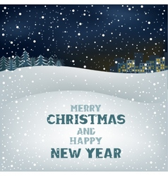 Christmas winter night vector image vector image