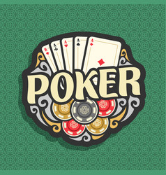 logo poker vector image vector image
