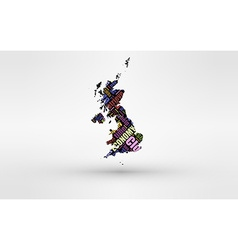 Map of great britain - england wales scotland and vector
