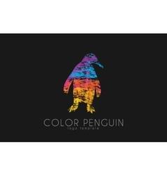 Penguin logo Color penguin design Creative logo vector image vector image