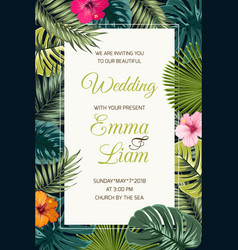 wedding event invitation card template vector image vector image