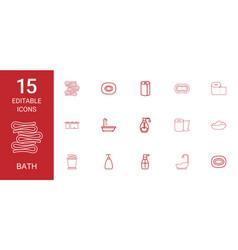 15 bath icons vector