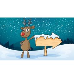 A reindeer vector