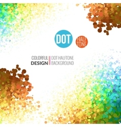 Abstract background colorful dots like vector