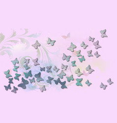 abstract background with colored flying vector image