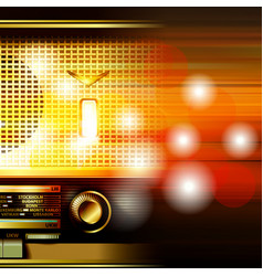 abstract grunge background with retro radio vector image