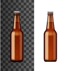 alcohol drink bottle beer or craft ale vector image