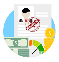 approved credit or loan vector image