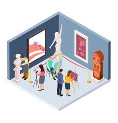 art college students isometric artists vector image