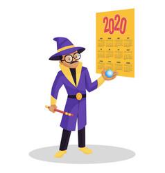 astrologer cartoon vector image