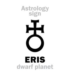 Astrology planet eris vector