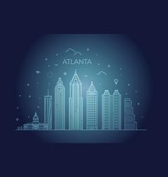 Atlanta architecture line skyline vector