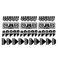 aztec glyphs vector image