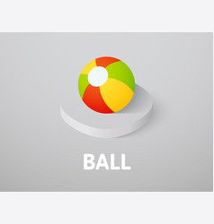 ball isometric icon isolated on color background vector image