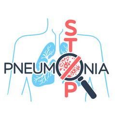 Banner pneumonia stop vector