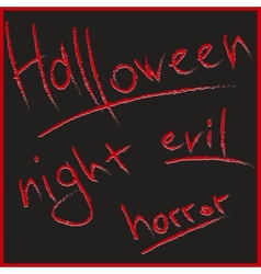 Bloody letters for Halloween design vector