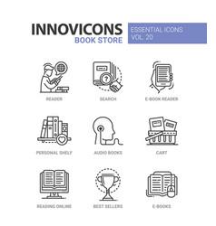 Book store - modern color single line icon vector